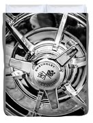 1963 Chevrolet Corvette Split Window Wheel Emblem -478bw Duvet Cover