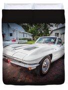 1963 Chevy Corvette Coupe Painted  Duvet Cover