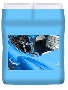 1963 Corvette Driver Approach Duvet Cover