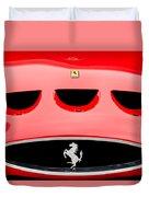 1963 Ferrari 250 Gto Grille Emblem -1753c Duvet Cover