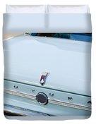 1963 Ford Falcon Futura Convertible  Rear Emblem Duvet Cover by Jill Reger