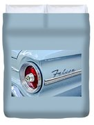1963 Ford Falcon Futura Convertible Taillight Emblem Duvet Cover by Jill Reger