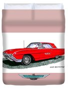 1963 Ford Thunderbird Duvet Cover by Jack Pumphrey
