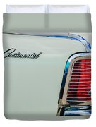 1963 Lincoln Continental Taillight Emblem -0905bw Duvet Cover