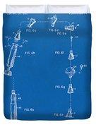 1963 Space Capsule Patent Blueprint Duvet Cover