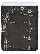 1963 Space Capsule Patent Gray Duvet Cover