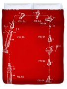 1963 Space Capsule Patent Red Duvet Cover