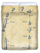 1963 Space Capsule Patent Vintage Duvet Cover