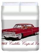 1964 Cadillac Coupe De Ville Duvet Cover