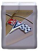 1964 Chevrolet Corvette Coupe Emblem Duvet Cover