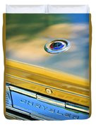 1964 Chrysler 300k Convertible Emblem -3529c Duvet Cover