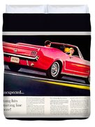 1964 - Ford Mustang Convertible - Advertisement - Color Duvet Cover