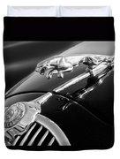 1964 Jaguar Mk2 Saloon Hood Ornament And Emblem Duvet Cover