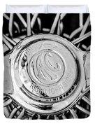 1964 Shelby 289 Cobra Wheel Emblem -0666bw Duvet Cover