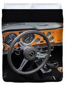 1965 Austin Healey Interior Duvet Cover