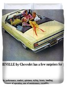 1965 Chevelle Convertible Duvet Cover