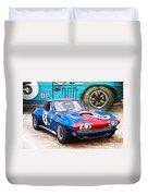 1965 Corvette Front View Duvet Cover