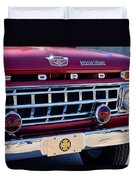 1965 Ford American Lafrance Fire Truck Duvet Cover