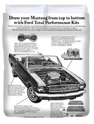 1965 Ford Mustang Performance Kits Duvet Cover
