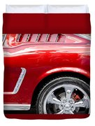 1965 Ford Mustang Really Red Duvet Cover