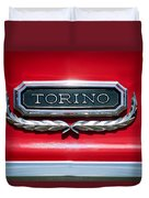 1965 Ford Torino Emblem Duvet Cover