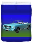 1965 Mustang Convertible Duvet Cover