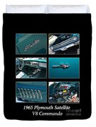 1965 Plymouth Satellite Duvet Cover