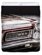 1965 Pontiac Gto Grille Emblem -0442ac Duvet Cover