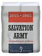 1965 Salvation Army Stamp Duvet Cover