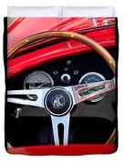 1965 Shelby Ac Cobra Roadster 289 Steering Wheel Emblem Duvet Cover