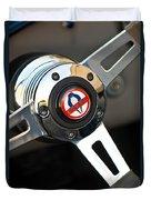 1965 Shelby Cobra 427 Steering Wheel Emblem Duvet Cover