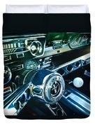 1965 Shelby Prototype Ford Mustang Steering Wheel Emblem 2 Duvet Cover