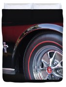 1965 Shelby Prototype Ford Mustang Wheel And Emblem Duvet Cover