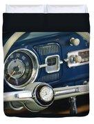 1965 Volkswagen Vw Beetle Steering Wheel Duvet Cover