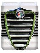 1966 Alfa Romeo Gtc Grille Emblem -1438c Duvet Cover
