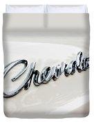 1966 Chevrolet Biscayne Emblem -0101c Duvet Cover