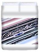 1966 Chevrolet Biscayne Front Grille Duvet Cover