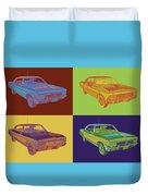 1966 Chevy Chevelle Ss 396 Car Pop Art Duvet Cover