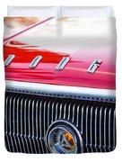 1966 Dodge Charger Grille Emblem Duvet Cover