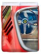 1966 Ferrari 275 Gtb Steering Wheel -0408c Duvet Cover