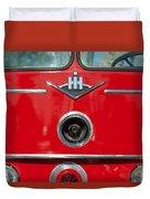 1966 International Harvester Pumping Ladder Fire Truck - 549 Ford Gas Motor Duvet Cover