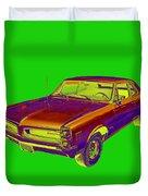 1966 Pointiac Lemans Car Pop Art Duvet Cover