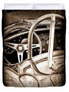 1966 Shelby 427 Cobra Steering Wheel Emblem Duvet Cover