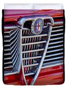 1967 Alfa Romeo Giulia Super Grille Emblem Duvet Cover