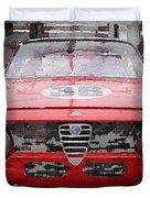 1967 Alfa Romeo Gtv Watercolor Duvet Cover