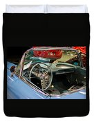 1967 Blue Corvette-interior And Wheel Duvet Cover
