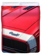 1967 Chevrolet Camaro Ss 350 Convertible Hood Emblem Duvet Cover
