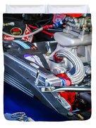 1967 Chevrolet Camaro Ss 350 Engine - Hood Emblem  Duvet Cover