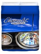 1967 Chevrolet Camaro Ss 350 Headlight - Hood Emblem  Duvet Cover