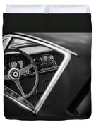 1967 Ferrari 275 Gtb-4 Berlinetta Steering Wheel Duvet Cover by Jill Reger